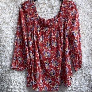 CHAPS women flowered blouse